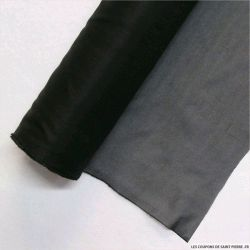Toile Thermocollant Percale moyen noir