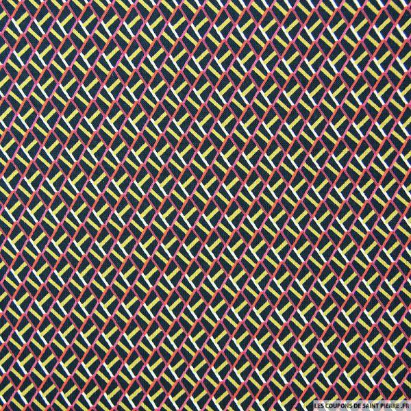 Microfibre imprimé losanges rouge et noir