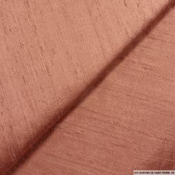 Soie sauvage / Doupion de soie cuivre