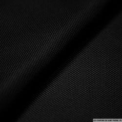 100% Soie nattée souple noir