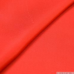 100% Soie nattée souple rouge