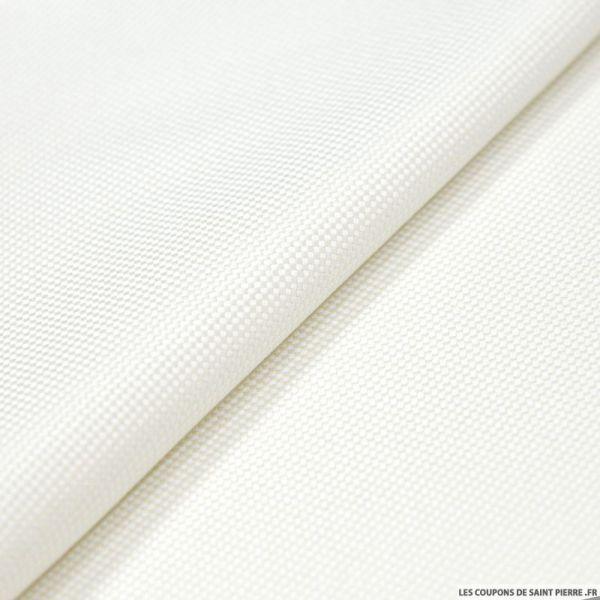 100% Soie nattée souple blanc