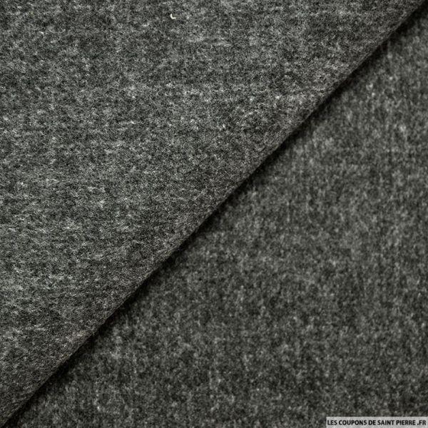 Caban gris chiné foncé