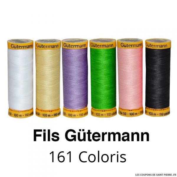 Fil de coton naturel 100m - Gütermann