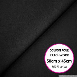 Coton uni noir 50x45cm