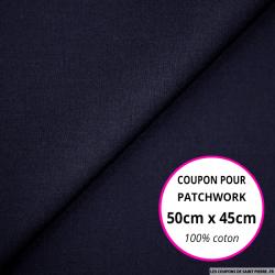 Coton uni marine 50x45cm