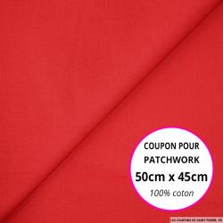 Coton uni rouge 50x45cm