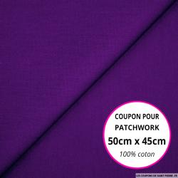 Coton uni violet 50x45cm