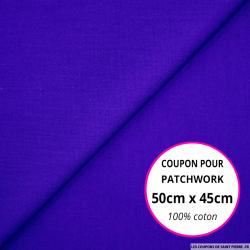 Coton uni bleu roy 50x45cm