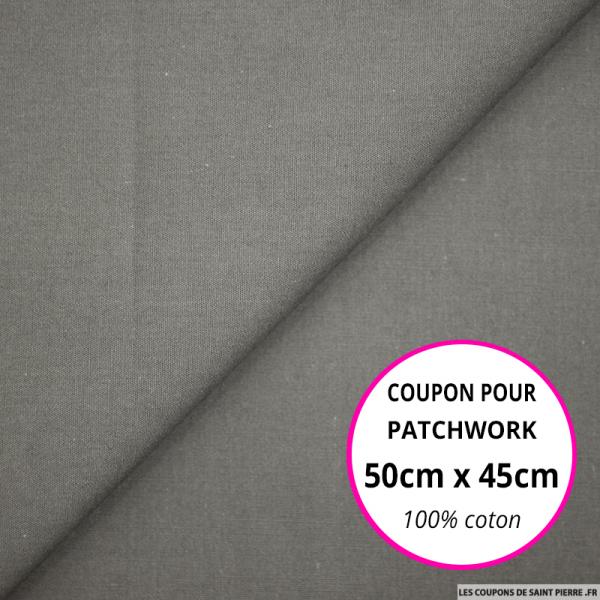 Coton uni gris 50x45cm