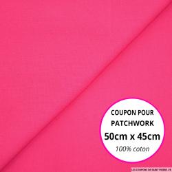 Coton uni fuchsia 50x45cm