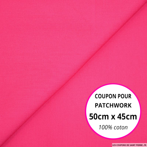 Coton uni fushia 50x45cm