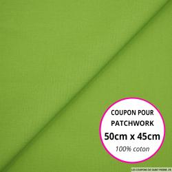 Coton uni vert anis 50x45cm