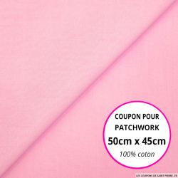 Coton uni rose 50x45cm