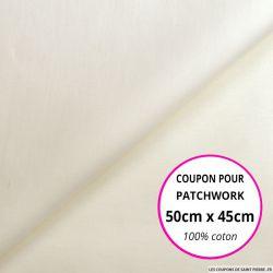Coton uni écru 50x45cm
