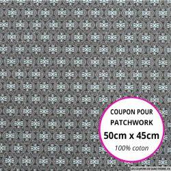 Coton imprimé vintage ciel Coupon 50x45cm