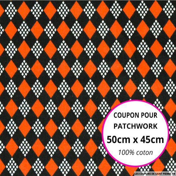 Coton imprimé château de cartes rouge Coupon 50x45cm
