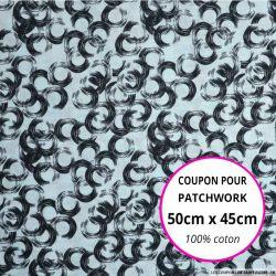 Coton imprimé vinyle ciel 50x45cm