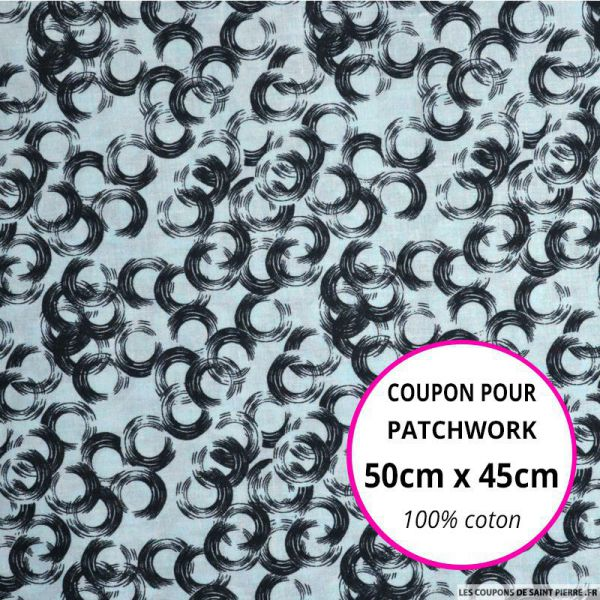 Coton imprimé vinyle ciel Coupon 50x45cm