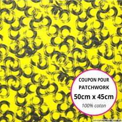 Coton imprimé vinyle citron Coupon 50x45cm