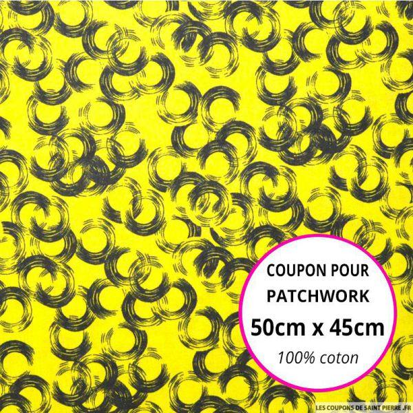 Coton imprimé vinyle citron 50x45cm