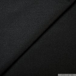 Sergé de laine mélangée noir