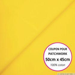 Coton uni jaune 50x45cm