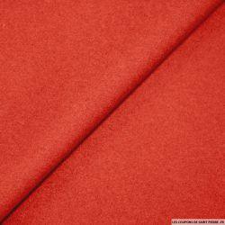100% cachemire double face rouge au mètre