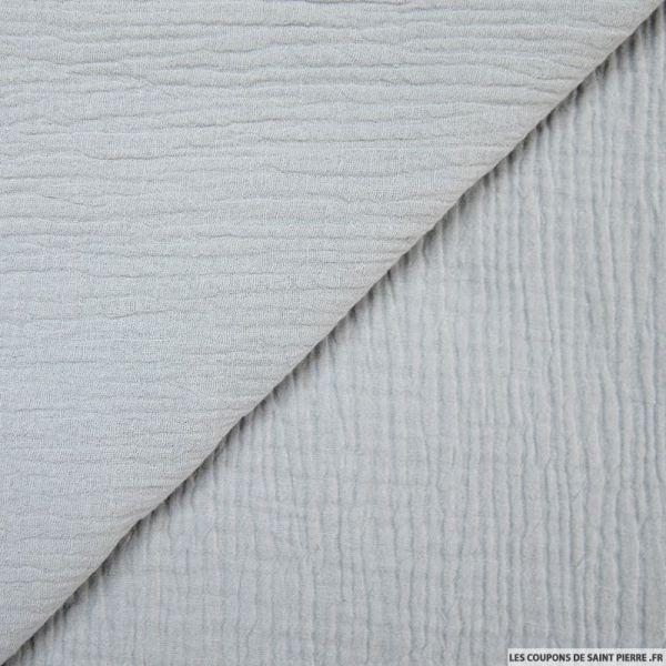 Crêpon de coton Blanc