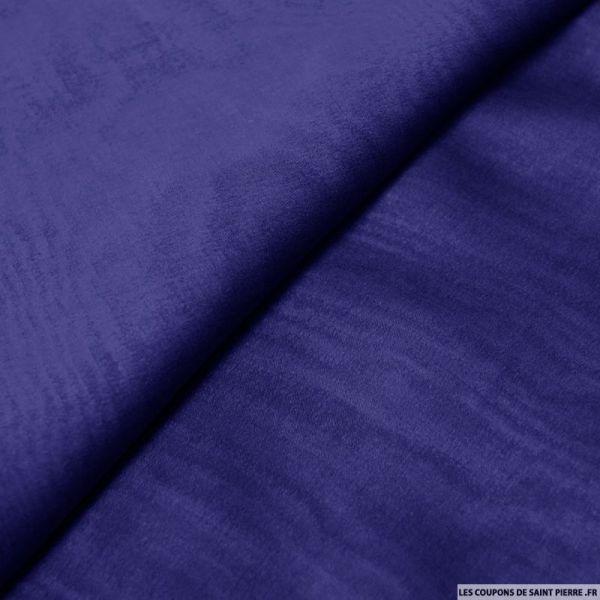 Mousseline de Soie changeant noir et bleu