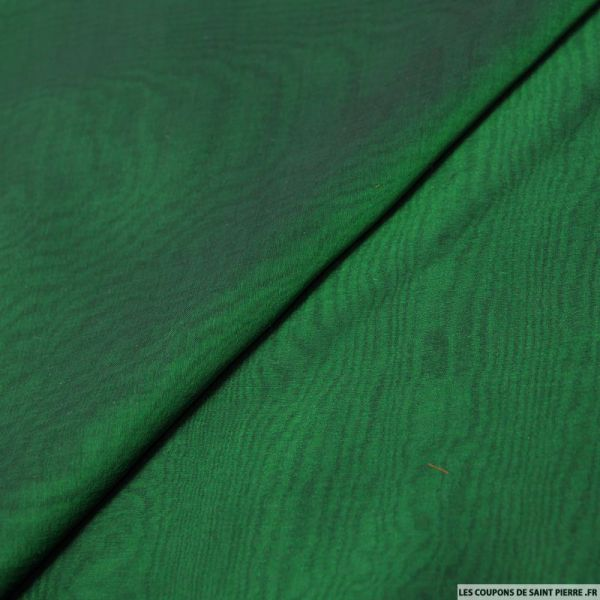 Mousseline de Soie changeant noir et vert