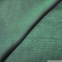 Mousseline de Soie changeant noir et vert bouteille
