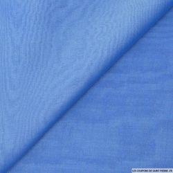 Mousseline de Soie changeant écru et bleuet
