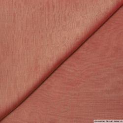 Mousseline de Soie changeant écru et bois de rose