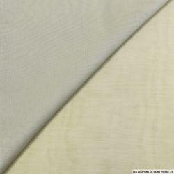Mousseline de Soie dégradé écru et gris