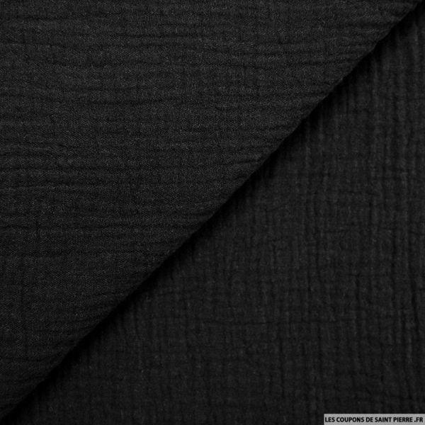 Tissu Double gaze noir