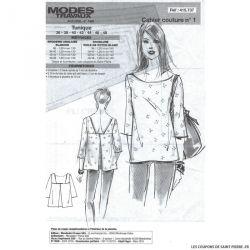 Patron Modes & Travaux - Tunique printanière (Patron pour femme )