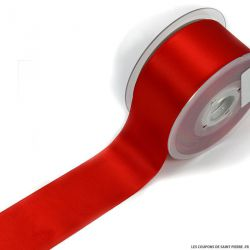 Rouleau 25 m Ruban satin 50 mm rouge
