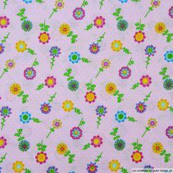 Coton imprimé tournesol rose