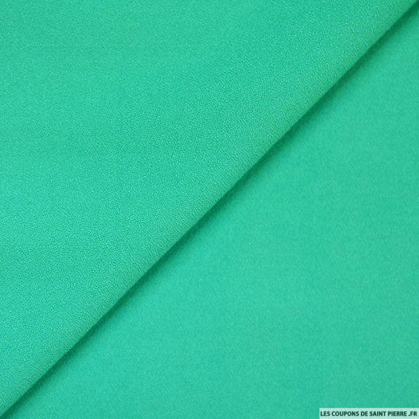Crêpe viscose vert menthe