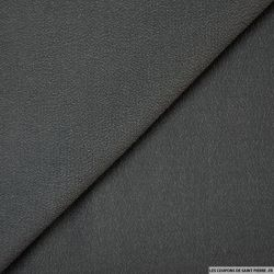 Crêpe polyester texturé anthracite