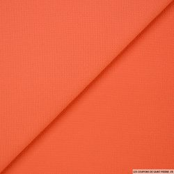 Crêpe polyester texturé orange