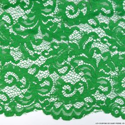 Dentelle festonnée vert gazon