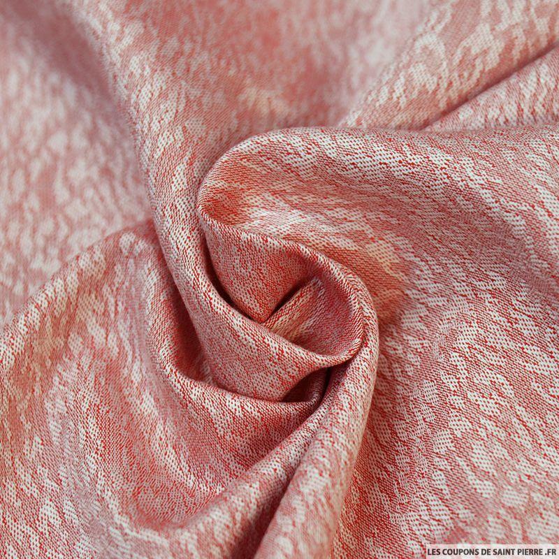 tissu jacquard viscose brume rouge. Black Bedroom Furniture Sets. Home Design Ideas