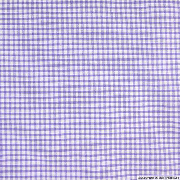 Coton Vichy 3mm lilas