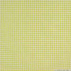 Coton Vichy 3mm vert anis