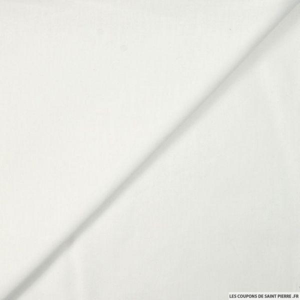 Voile de coton blanc optique