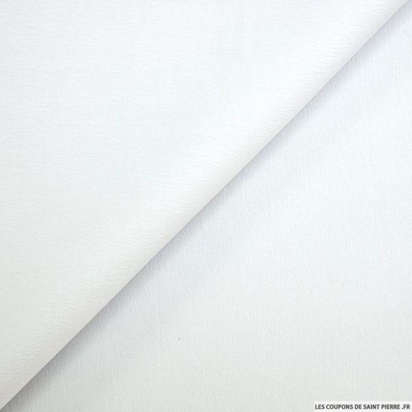 Crêpe polyester envers satin blanc