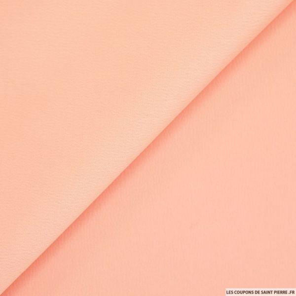 Crêpe polyester envers satin rose