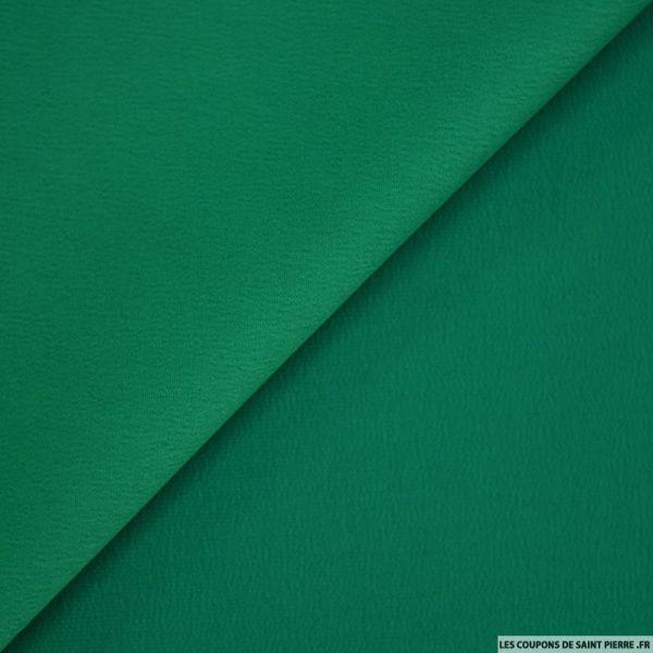 Crêpe polyester envers satin émeraude